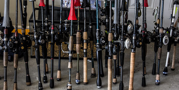 Various Bass Rods And Reels